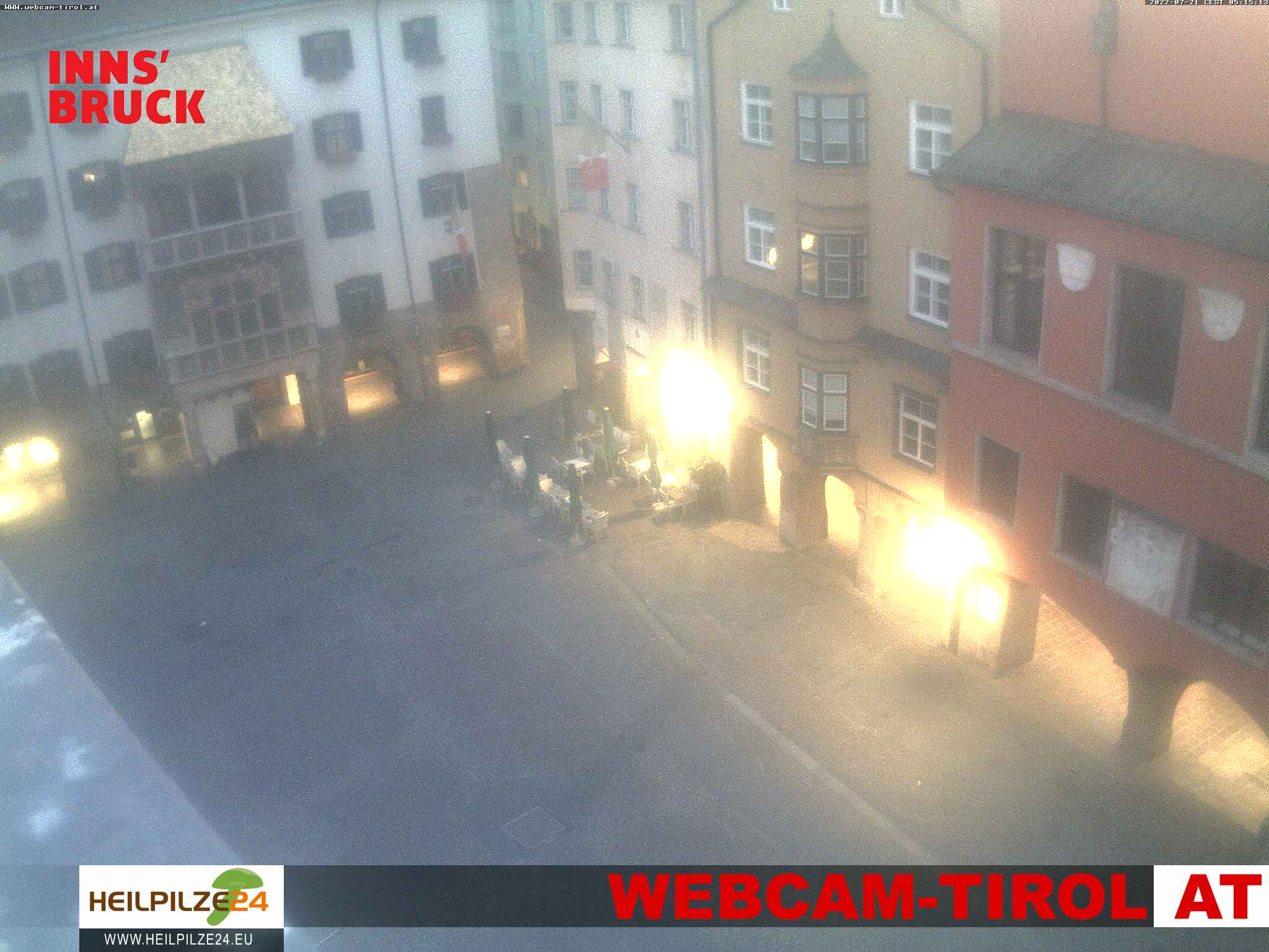 Webcam live vom Goldenen Dachl Innsbruck